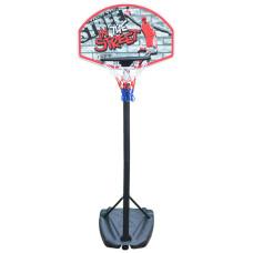 Баскетбольная стойка SBA S881R детская 66x46 см
