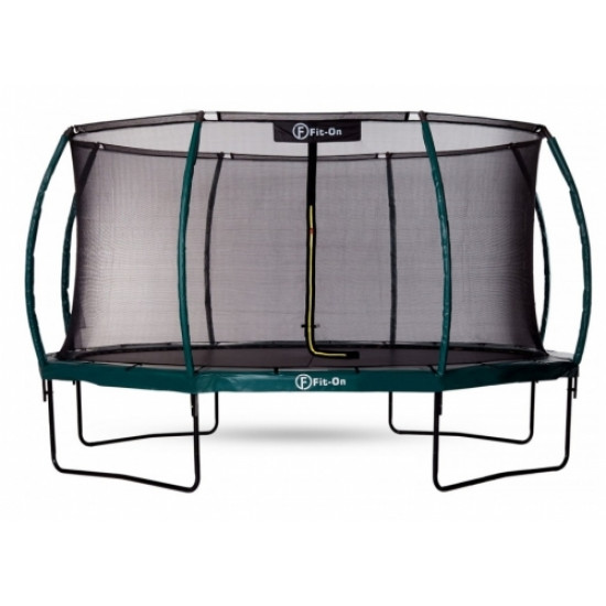 Батут  FIT-ON TRAMP 14FT (427CМ) С ЗАЩИТНОЙ СЕТКОЙ MAXIMAL SAFE - фото №1