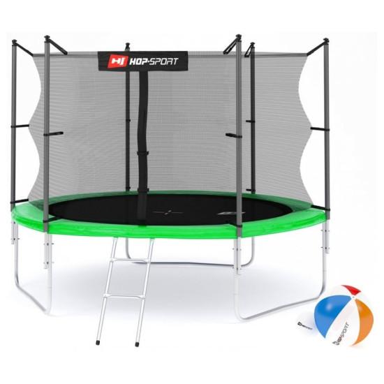 Батут  Hop-Sport 10FT 305 см green с внутренней сеткой - фото №1