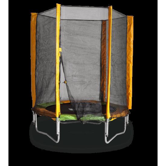 Батут  KIDIGO 140 см с внешней сеткой - фото №1