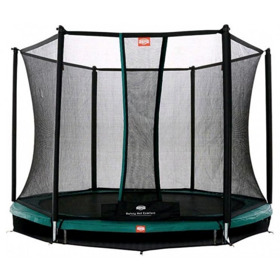 Батут  BERG InGround Talent 240 Green + Safety Net Comfort - фото №1