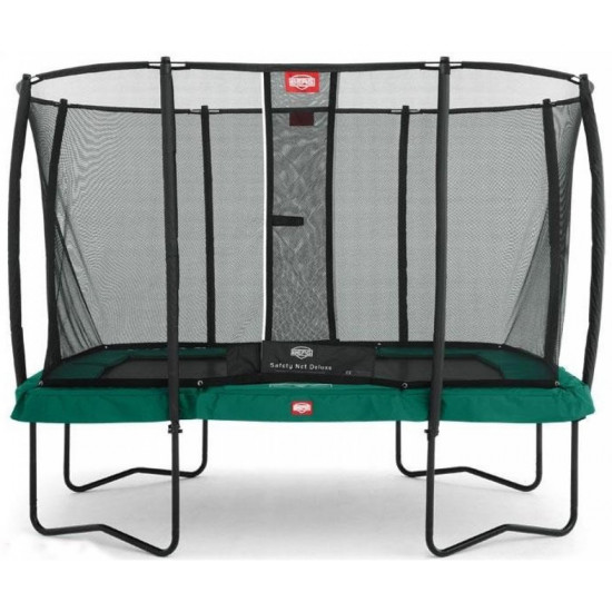 Батут  BERG Ultim Champion Regular 330 Green + защитная сетка Safety Net Deluxe - фото №1