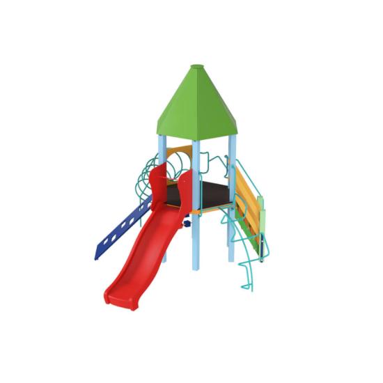 Детский игровой комплекс  Kidigo  Башня с пластиковой горкой - фото №1