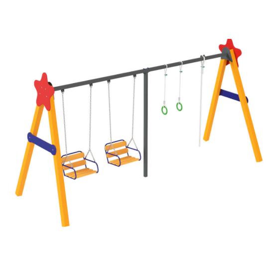 Детский игровой комплекс  Kidigo Віола база дерево - фото №1