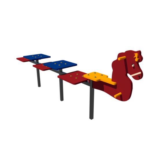 Детский игровой комплекс  Kidigo Детская лавочка Конек - фото №1