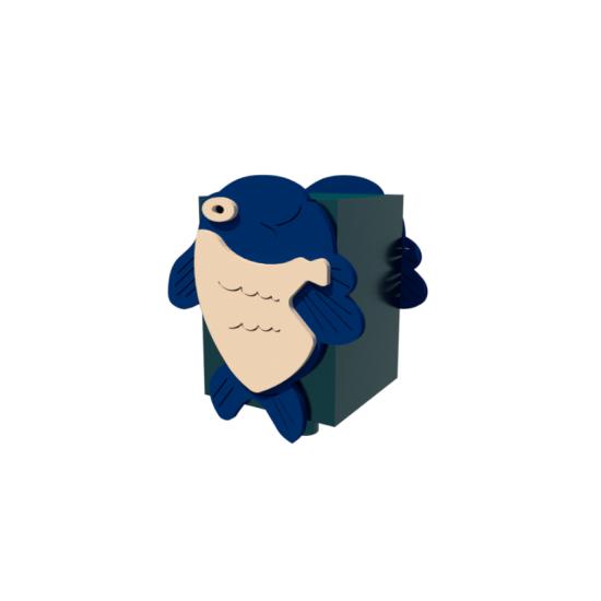 Детский игровой комплекс  Kidigo Детская урна Рыбка - фото №1