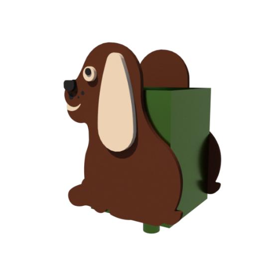 Детский игровой комплекс  Kidigo Детская урна Собачка - фото №1