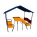 Детский игровой комплекс  Kidigo Домик со столиком Океан - фото №1