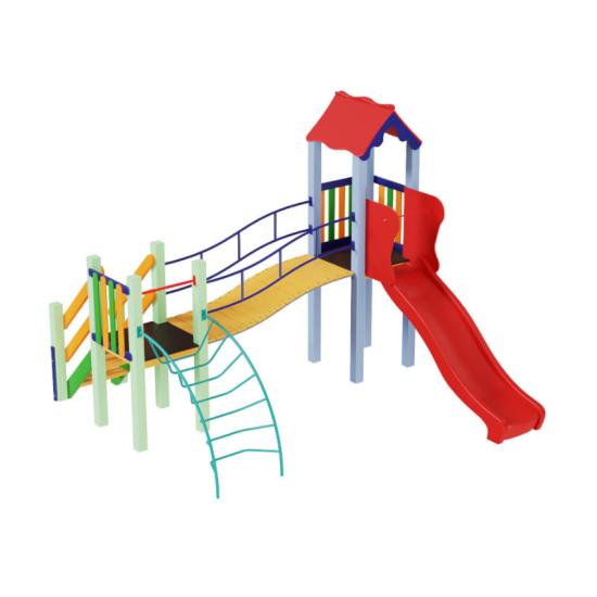 Детский игровой комплекс  Kidigo  Месяц с пластиковой горкой - фото №1