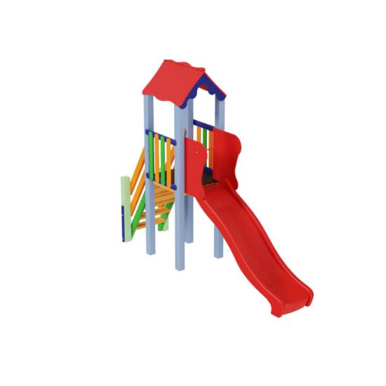Детский игровой комплекс  Kidigo  Мини с пластиковой горкой - фото №1