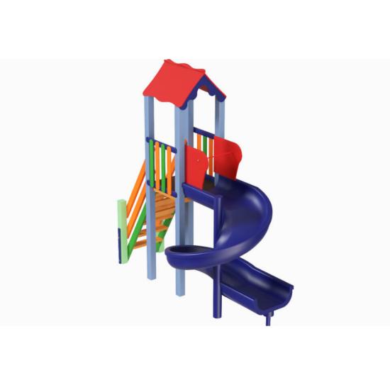 Детский игровой комплекс  Kidigo  Мини с пластиковой горкой Спираль - фото №1