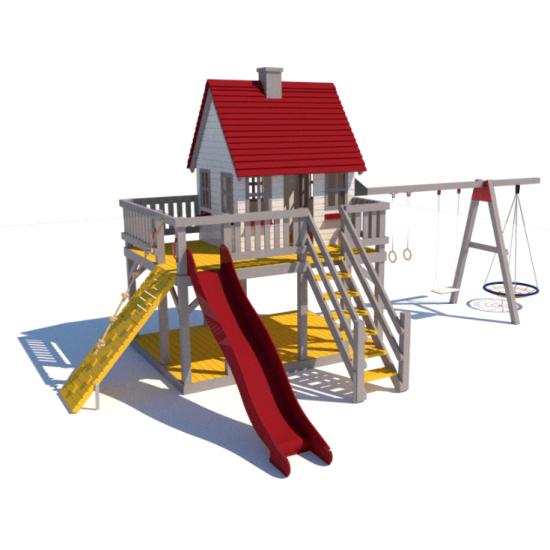 Детский игровой комплекс  Kidigo  Домик Принцессы 1,5 - фото №1