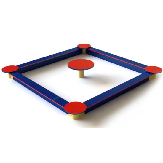 Детский игровой комплекс  Kidigo Песочница со столиком 2 м - фото №1