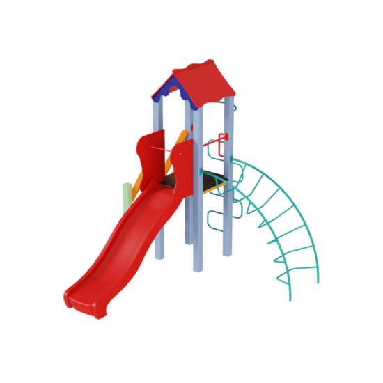 Детский игровой комплекс  Kidigo  Петушок с пластиковой горкой - фото №1