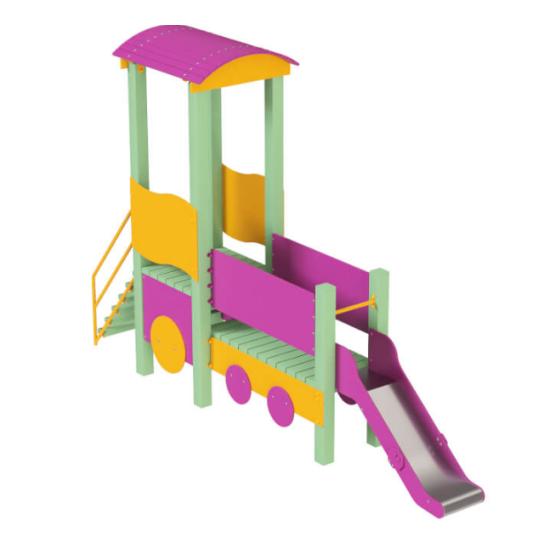 Детский игровой комплекс  Kidigo  Паровозик с горкой - фото №1