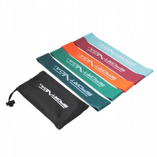 Защитный коврик под тренажер  SportVida Mini Power Band 5 шт 0-25 кг - фото №1