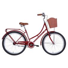 """Велосипед Dorozhnik Jade 26"""" 2021 (бордовый)"""