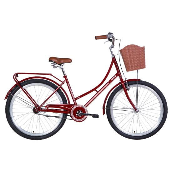 """Велосипед  Dorozhnik Jade 26"""" 2021 (бордовый) - фото №1"""