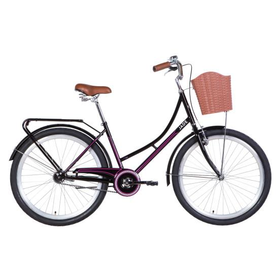 """Велосипед  Dorozhnik Jade 26"""" 2021 (черно-розовый) - фото №1"""