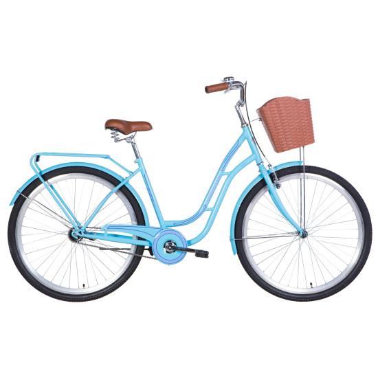 """Велосипед  Dorozhnik Obsidian 28"""" 2021 (голубой) - фото №1"""