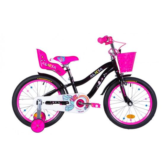 """Велосипед  Formula Alicia 18"""" 2021 (черный с розовым) - фото №1"""