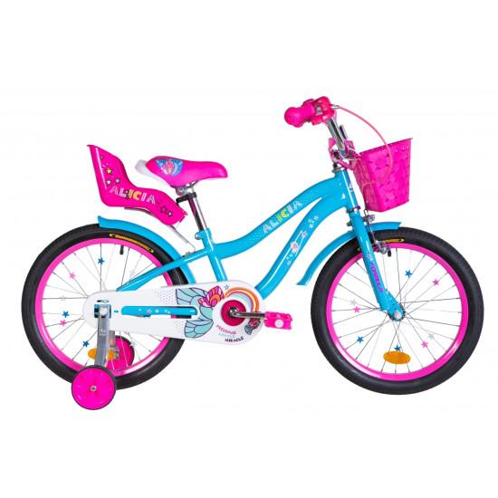 """Велосипед  Formula Alicia 18"""" 2021 (голубой) - фото №1"""