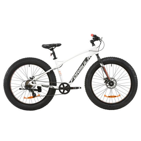 """Велосипед  Formula Paladin 26"""" 2020 (бело-серый с оранжевым) - фото №1"""