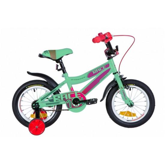 """Велосипед  Formula Race 14"""" 2021 (бирюзово-фиолетовый с малиновым) - фото №1"""