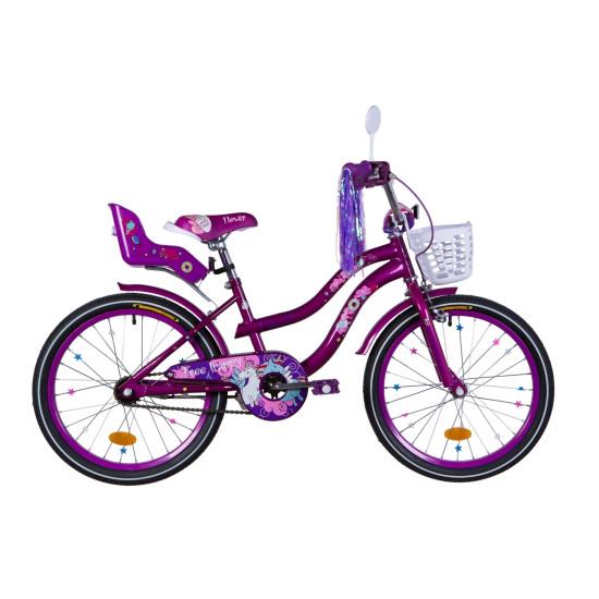 """Велосипед  Formula Flower Premium 20"""" 2021  (перламутровий фиолетовый) - фото №1"""