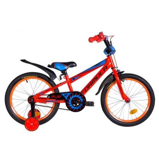 """Велосипед  Formula Sport 18"""" 2021 (оранжево-синий с черным) - фото №1"""