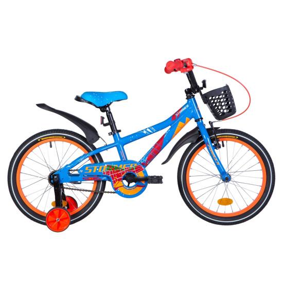"""Велосипед  Formula Stormer 18"""" 2021 (сине-оранжевый) - фото №1"""