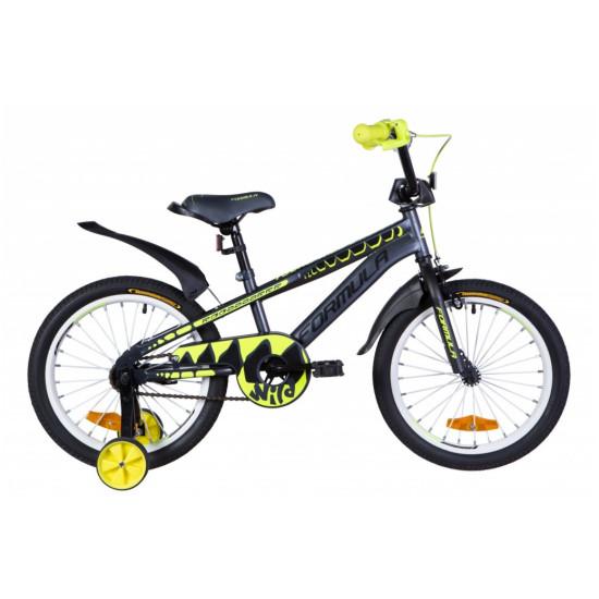 """Велосипед  Formula Wild 18"""" 2020 (серо-желтый с черным) - фото №1"""