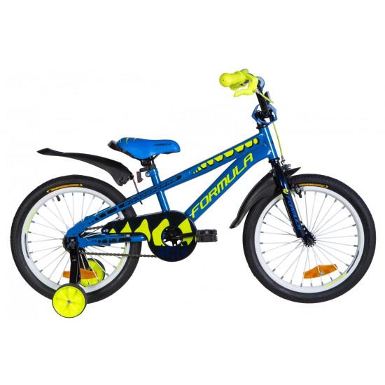 """Велосипед  Formula Wild 18"""" 2020 (синий с желтым) - фото №1"""