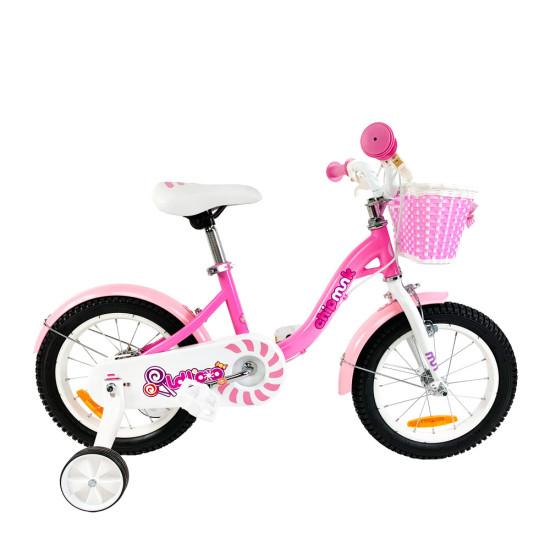"""Велосипед  RoyalBaby Chipmunk MM Girls 16"""" розовый - фото №1"""