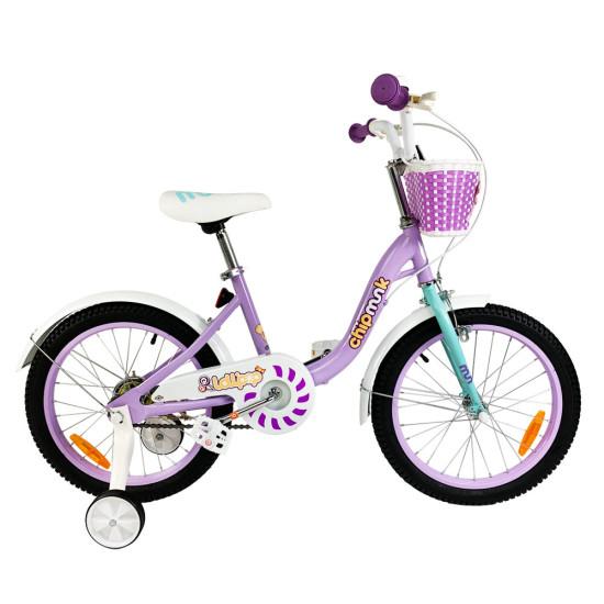 """Велосипед  RoyalBaby Chipmunk MM Girls 18"""" фиолетовый - фото №1"""