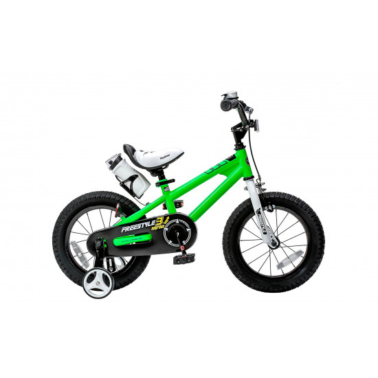 "Велосипед  RoyalBaby Freestyle 16"" зеленый - фото №1"