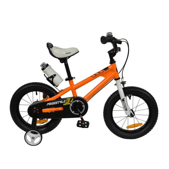 "Велосипед  RoyalBaby Freestyle 16"" оранжевый - фото №1"