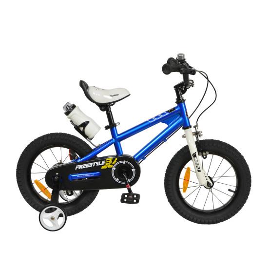 "Велосипед  RoyalBaby Freestyle 14"" синий - фото №1"