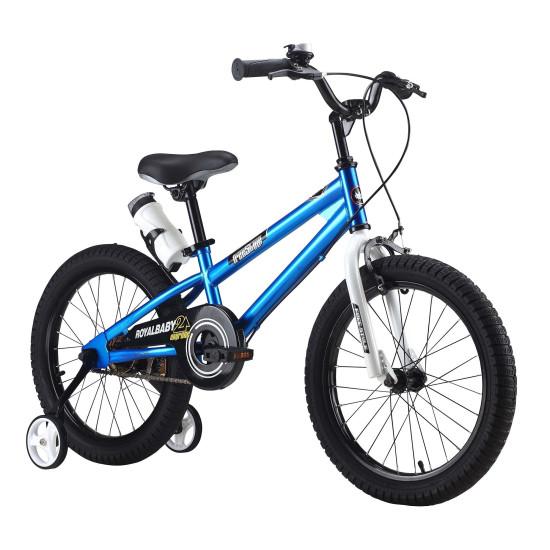 "Велосипед  RoyalBaby Freestyle 18"" синий - фото №1"