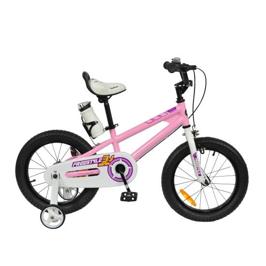"Велосипед  RoyalBaby Freestyle 16"" розовый - фото №1"